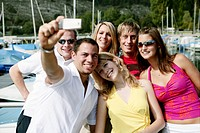 young adults, photographing, happy, smiling, portr