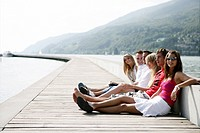 Young adults, enjoying, port, harbour, portrait, g (thumbnail)