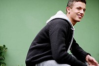 Boy, attractive, smile, kneeling, teenage, male, 1 (thumbnail)