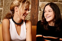 Girls, teenagers, beauty, laughing, restaurant, te (thumbnail)
