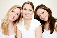 young, women, vitality, make up, smiling, pure, fe