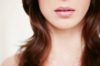 cut out, female, mouth, brown hair, beauty, fresh