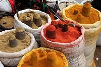 Nepal, Kathmandu, Asan Tole, market, spices