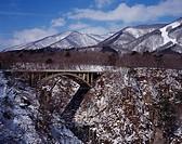 Naruko valley, Fukazawa bridge, Winter, Osaki, Miyagi, Japan
