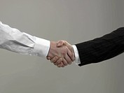 Business men shaking hands, close_up