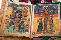 1000 years ago´s Bible, St Mary Church, Aksum, Ethiopia, Africa, World Heritage, Art