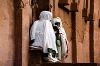 Infront of Abba Libanos Church, Nun, Lalibela, Ethiopia, Africa, World Heritage