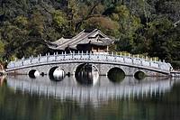Black Longtan, Yuquan Park, Yudai bridge, Five holes bridge, Lijiang, Yunnan, China