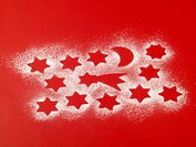 Imprint stars in sugar