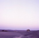 Abandonded vacation home in desolate landscape, Northern Baja, Mexico, North America