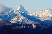 Matterhorn, viewed from Fiescheralp, Switzerland, Europe