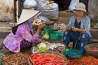 Vendor in Dam Market, Nha Trang City, Vietnam, Indochina, Southeast Asia, Asia