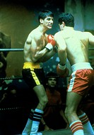 movie, Spike of Bensonhurst, USA 1988, director: Paul Morrissey, scene with: Sasha Mitchell, drama, half length, boy, boxing, match, fight, fighting, ...