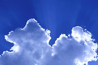 Cumulus cloud in blue sky