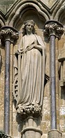 Saint Katherine of Alexandria Martyrs Palm Salisbury Cathedral West Front _ Wiltshire