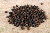 Malabar Pepper, Piper nigrum, peppercorns