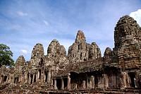 Exterior of Angkor´s Bayon Temple ruins