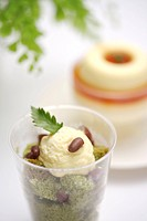 Vanilla ice cream in cup