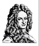Leibniz, Gottfried Wilhelm, 1.7.1646 _ 14.11.1716, German polymath, portrait, steel engraving, 19th century,