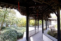 China, Suzhou, corridor in the Humble Administrator's Garden