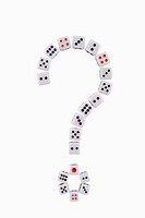 Dices in shape of question mark
