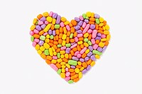Candies in heart shape