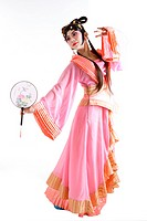 Chinese traditional opera character posing