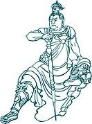 Herculean figure