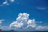 Cloud over the sea of Sanya City, Hainan Province, China