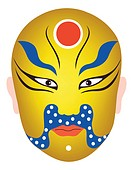 Traditional Chinese Opera Mask for Gautama Buddha, Siddhartha Gautama