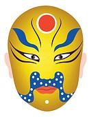 Traditional Chinese Opera Mask for Gautama Buddha, Siddhartha Gautama