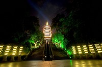 Leifeng Pagoda at night in Hangzhou, Zhejiang Province
