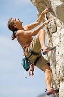 Klettern am Berg _ Free climb