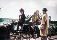 Film, Die Mädels vom Immenhof, BRD 1955, Regie: Wolfgang Schleif, Szene mit: Angelika Meissner, Heidi Brühl und Matthias Fuchs, Komödie, nach Roman vo...