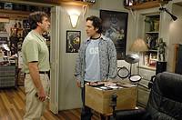 Film Jungfrau 40, männlich, sucht... The 40 Year Old Virgin, USA 2005, Regie: Judd Apatow, Szene mit: Steve Carell und Paul Rudd, Komödie, Halbfigur, ...