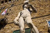 Michelangelo´s David, Piazza della Signoria, Palazzo Vecchio, Florence, Italy
