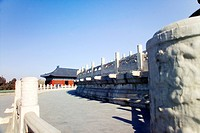 Gate of Prayer for Good Harvest and marble terrace surrounding Hall of Prayer for Good Harvest, Temple of Heaven, Beijing, China