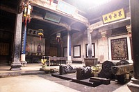 Inner courtyard of Hu Family Clan Temple, Xidi Village, Anhui Province, China