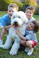Children dog