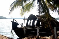 HOUSEBOAT IN VALIAPARAMBA BACKWATERS IN KASARAGOD DISTRICT