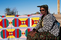 Nama woman with traditional cloth, Riemvasmaak, Northern Cape, South Africa