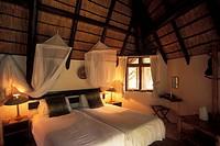 Djuma bush camp, bedroom, Sabi Sands Game Reserve, South Africa