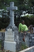 graveyard where several early Scottish missionaries are buried, Bandawe mission, Malawi