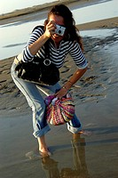 Woman beach photo