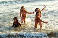 Little girls beach