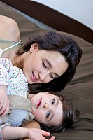 Mother daughter tenderness