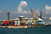 Barcelona, Container am Hafen, container at the port