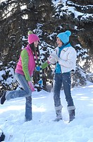 Friends winter sports