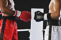 Two boxers wearing Boxing gloves