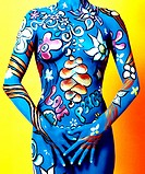 Koerperbemalung, body painting